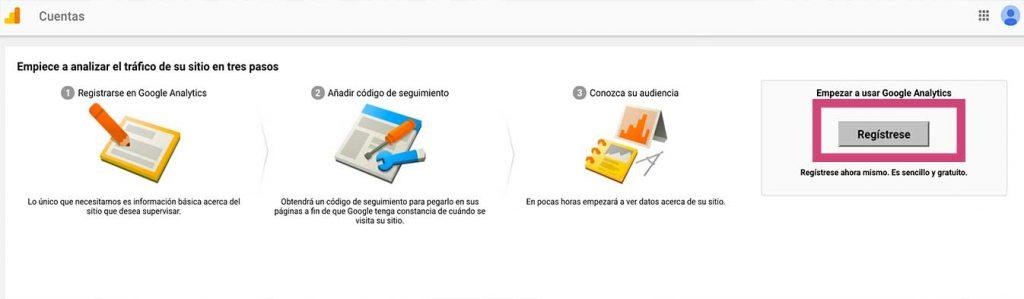 guia de google analtytics registrarse