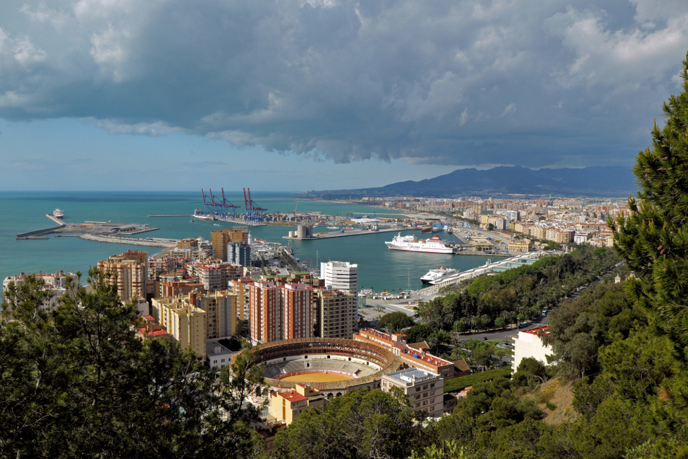 View_of_Malaga_from_Castillo_Gibralfaro._Spain