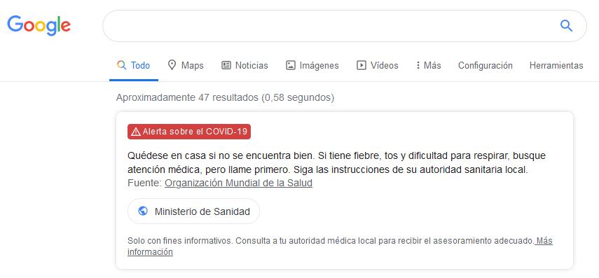 Google covid