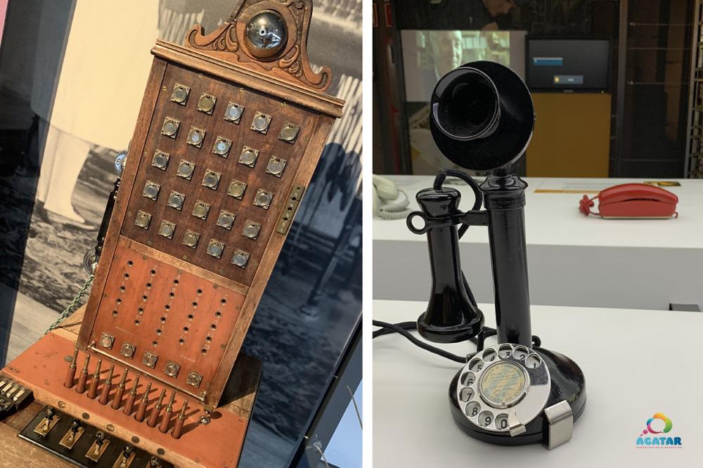 Dos de los objetos de la exposición de la Fundación Telefónica